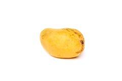 在白色背景的一个芒果 免版税库存图片