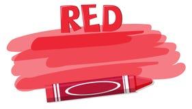 在白色背景的一只红色蜡笔 库存例证