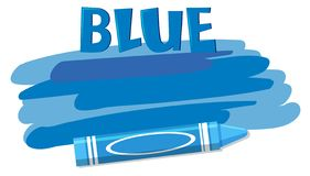 在白色背景的一只蓝色蜡笔 皇族释放例证