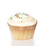 一块白色杯形蛋糕 免版税库存照片