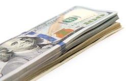 在白色背景的一百元钞票 免版税图库摄影