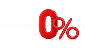 在白色背景的一百百分之七十 查出的3D 库存例证