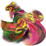 在白色背景的不可思议的神仙的彩虹公鸡跳舞 明亮的f 向量例证