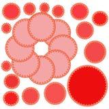 在白色背景的不可思议的红色心脏 免版税图库摄影