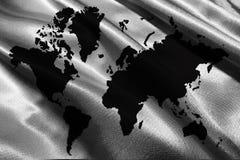 在白色背景的世界地图,地球地图3D例证标志 库存图片