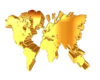 在白色背景的世界地图 免版税库存照片