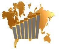 在白色背景的世界地图 免版税图库摄影