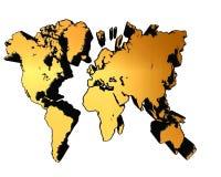 在白色背景的世界地图 免版税库存图片
