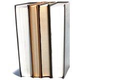 在白色背景的书架 库存照片