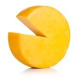 在白色背景的乳酪。 免版税库存图片