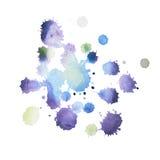 在白色背景的五颜六色的减速火箭的葡萄酒摘要水彩水彩画艺术手油漆 库存图片