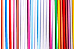 在白色背景的五颜六色的抽象线 库存照片