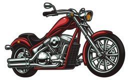 在白色背景的传染媒介摩托车 免版税库存图片
