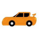 在白色背景的传染媒介动画片简单的汽车 向量例证