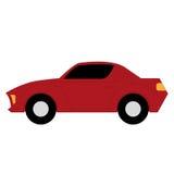 在白色背景的传染媒介动画片简单的汽车 皇族释放例证