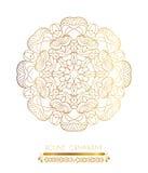 在白色背景的传统金黄装饰 库存图片