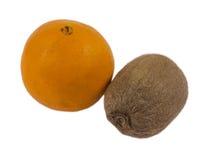 在白色背景的凋枯的果子 免版税库存图片