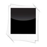 在白色背景的减速火箭的照片框架 库存图片