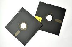 在白色背景的几个软盘 免版税库存照片