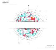 在白色背景的几何圈子与使用文本或h的空间 免版税库存图片