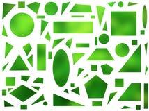 在白色背景的几何形状 免版税库存照片