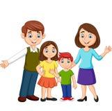 在白色背景的动画片幸福家庭 皇族释放例证