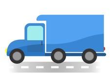 在白色背景的动画片搬运车 库存照片