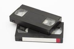 在白色背景的卡式磁带 免版税库存照片