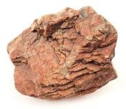 在白色背景的卡累利阿石头 免版税图库摄影