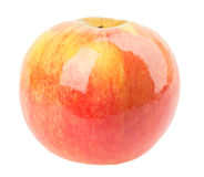 在白色背景的发光的苹果 库存图片