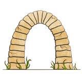 在白色背景的古老石砖弧 也corel凹道例证向量 免版税库存图片