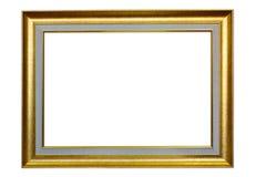 在白色背景的古色古香的框架 免版税库存图片