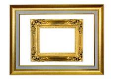 在白色背景的古色古香的框架 免版税库存照片
