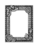 在白色背景的古色古香的灰色框架 库存图片