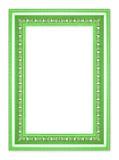 在白色背景的古色古香的绿色框架 免版税库存照片