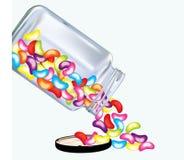 在白色背景的可口豆形软糖 向量例证