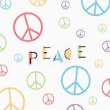 在白色背景的和平标志 免版税图库摄影