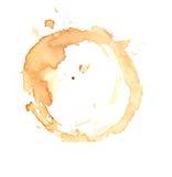 在白色背景的咖啡杯圆环 库存照片