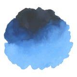 在白色背景的圆的水彩污点 图库摄影