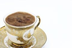 在白色背景的土耳其咖啡 库存图片
