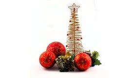 在白色背景的圣诞节抽象 库存图片