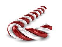 在白色背景的圣诞节糖果 库存照片