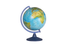 在白色背景的地球 免版税库存图片