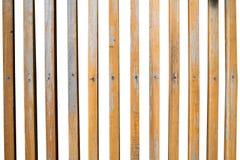 在白色背景的垂直的木板条孤立 图库摄影