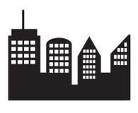 在白色背景的城市象 向量例证