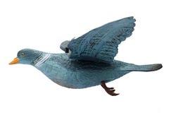 在白色背景的塑料鸽子诱饵孤立 免版税库存照片