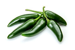 在白色背景的墨西哥胡椒胡椒 库存图片