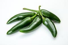 在白色背景的墨西哥胡椒胡椒 免版税库存图片