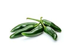 在白色背景的墨西哥胡椒胡椒 免版税库存照片