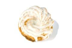 在白色背景的多福饼 免版税图库摄影